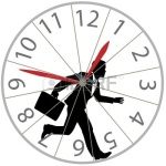 Racing against time in a rat-wheel-clock (net image)