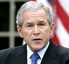 Ex US President George W Bush - May we not have  another US leader like this man.