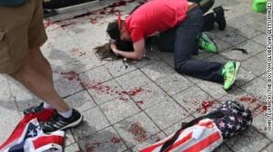 Boston marathon bombing- A heartrending sight -CNN