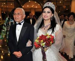 Taib Mahmud with his young Lebanese bride