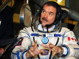 Commander Chris Hadfield arriving back to earth on 12 May 2013 after five months in ISS