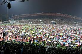 """The swarm"" at Kelana Jaya rally called by Anwar on 8 May 2013. The traffic congestion was anarchic"