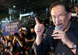 Anwar Ibrahim- the clothing is black and so is his heart.