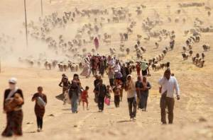 The Yazidis in their thousands flee from IS militants in Northern Iraq (Source: The Independent, 12 Aug 2014)
