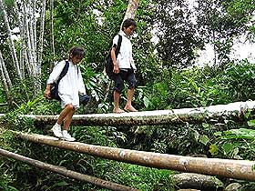 Going to school in rural Sarawak